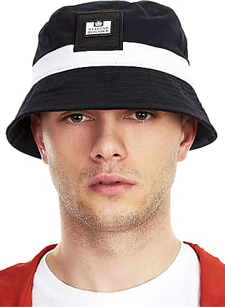 Weekend Offender Striped Bucket Hat, Navy, OS