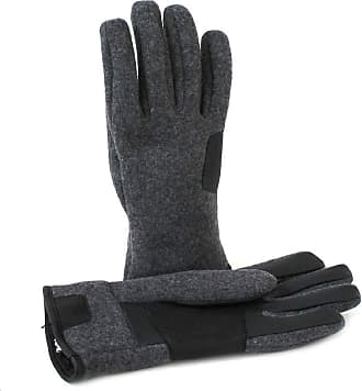 873599f5760c0 UGG UGG Mens Fabric & Leather Tech Gloves Charcoal XL