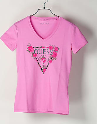 Guess T-SHIRT TRIANGOLO LOGO STRASS DONNA