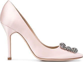 Manolo Blahnik Pumps con fibbia gioiello - Di colore rosa