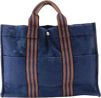 Hermès Fourre Tout Large 226813 Navy Canvas Tote 72a629490a0ea