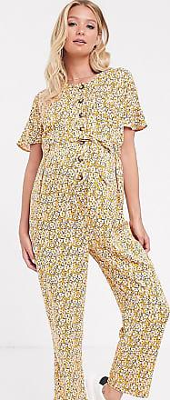 Asos Maternity ASOS DESIGN Maternity button front jumpsuit in vintage floral print-Multi