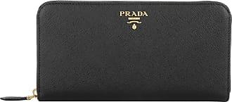 6cd47b18c525b Prada Zip Around Saffiano Wallet Nero Portemonnaie schwarz