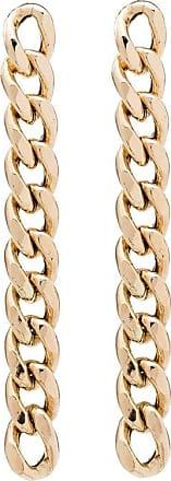 Zoë Chicco Par de brincos de ouro 18k com corrente - YELLOW GOLD