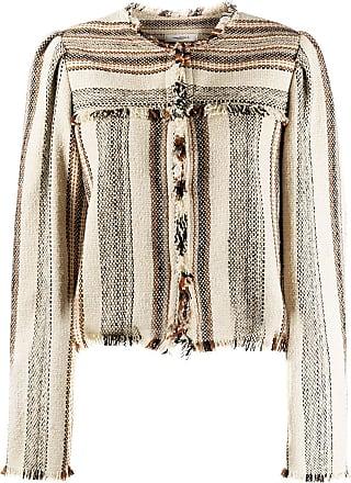 Isabel Marant collarless fringed jacket - Neutro