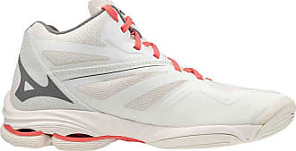 Mizuno Womens Lightning Z6 Mid Volleyball Shoe, White Sand/Qshade/Fusionc, 7.5 UK
