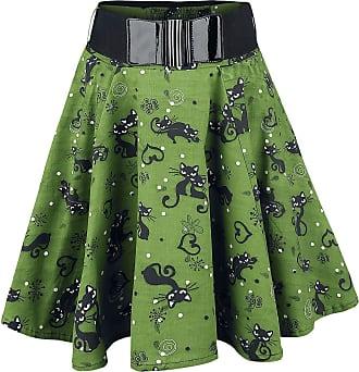 7c09260d3e1490 Rockabella Feline Swing - Medium-lengte rok - groen