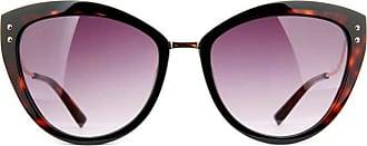 Ana Hickmann Óculos de Sol Ana Hickmann Ah9280 P01/56 Tartaruga Preto/dourado