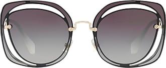 Miu Miu Eyewear Óculos de sol quadrado - Azul