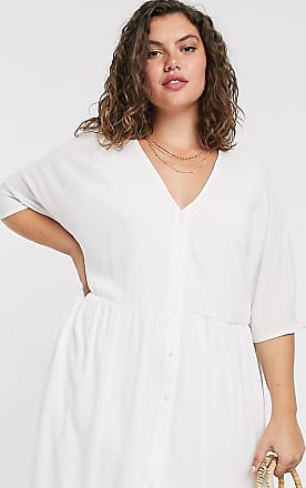 In The Style x Jac Jossa v neck trapeze mini dress in white