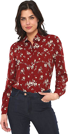 Facinelli by MOONCITY Camisa Facinelli by MOONCITY Floral Vinho