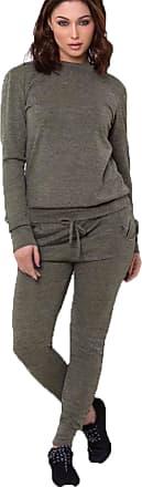 Ladies Marl Joggers Tracksuit Womens Angel Wing Diamante Sweatshirt Lounge Wear