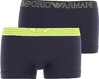 Emporio Armani Intimo Boxer da Uomo On Sale in Outlet, 2 Pack, Blue Marine, Cotone, 2019, L S