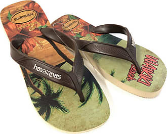 Havaianas Mens HAV Surf Sand Grey/Dark Brown/Beige Sandal, Green (Amazon), 9 Child UK