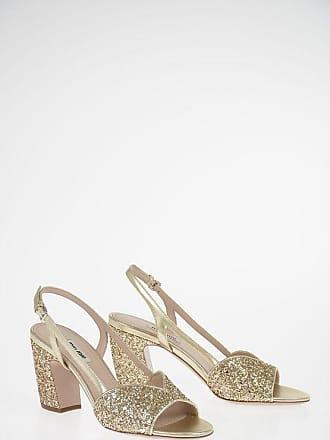Miu Miu Sandali Glitter in pelle 8,5 cm taglia 37,5