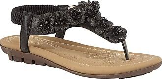 Lotus Black Chiquita Toe-Post Sandals 5