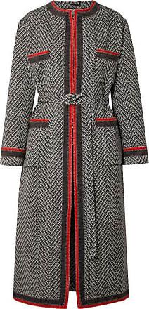 60b863094c3b0 Gucci Grosgrain-trimmed Wool-blend Bouclé Coat - Black