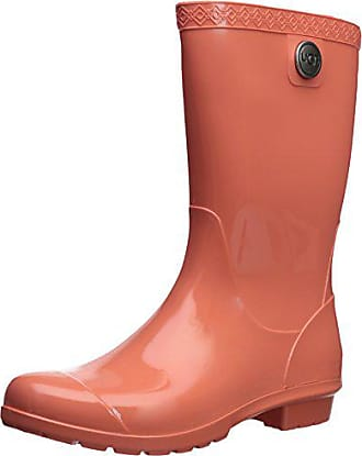 UGG Womens Sienna Rain Boot, Vibrant Coral, 5 M US