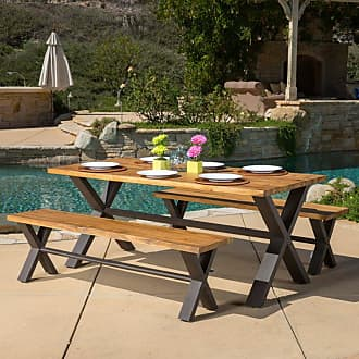 BEST SELLING HOME Outdoor Brasilia 3 Piece Picnic Table Set - 296134