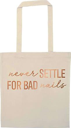 Flox Creative Natural Tote Bag Rose Gold Never Settle for Bad Nails