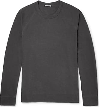 James Perse Loopback Supima Cotton-jersey Sweatshirt - Charcoal