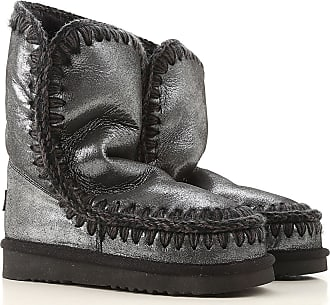 Mou Boots for Women, Booties On Sale, Silver Black, Textile, 2017, EUR 36 - UK 3 - USA 5.5