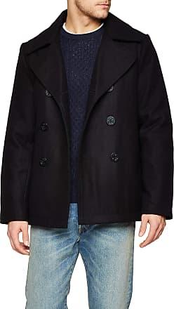 Brandit Mens Pea Coat Black, Men, Black, xxxxx-large