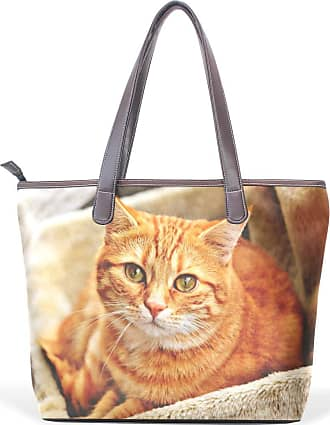 NaiiaN for Women Girls Ladies Student Handbags Tote Bag Leather Animal Cat Cute Light Weight Strap Flower Shoulder Bags Purse Shopping