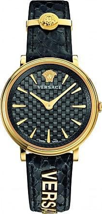 Acotis Limited Versace Watches Ladies Daily Chic V Motif Vintage Quartz Gold Tone Wat