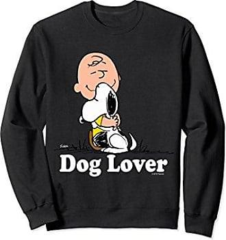 de1f13274 CafePress Unisex Snoopy Charlie Brown Love My Dog Lover Hug Sweatshirt  Medium Black