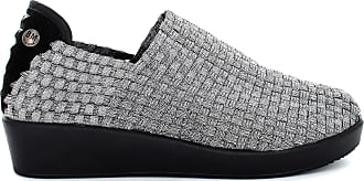 bernie mev. Womens Smooth Cha Cha Slip-on Loafer (Pewter, 6)