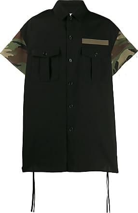 Facetasm Camisa com mangas contrastantes - Preto