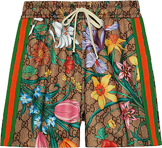 Gucci Bermuda com estampa GG Flora - Verde