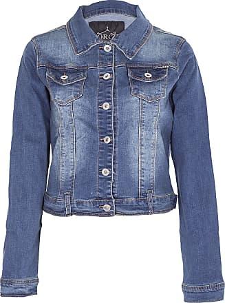 Noroze Women Basic Denim Cropped Jacket Stretch Vintage Wash Top (20, Vintage Wash Navy)(Manufacturer size: 4XL)