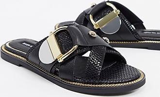 River Island hardware snake sandal in black
