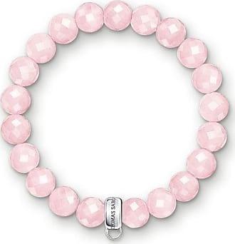 Acotis Limited Thomas Sabo Charm Club Silver Rose Quartz Bracelet X0191-034-9 Size 18