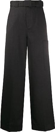Ganni Calça de alfaiataria cintura alta - Cinza