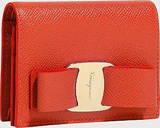 Salvatore Ferragamo Women Vara bow coin purse Coral