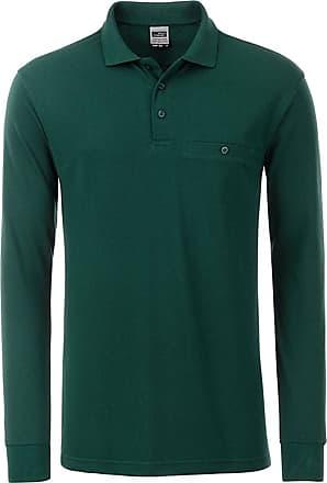 2Store24 Mens Workwear Polo Pocket Longsleeve in Dark-Green Size: XL