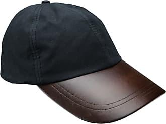 Generic New Mens Wax Baseball Cap Leather Peak Fishing Shooting Outdoor Waxed Cotton Hat Brown Black Light Green Dark Green (Black)