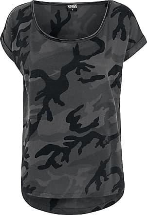 Urban Classics Ladies Camo Back Shaped Tee - T-Shirt - darkcamo