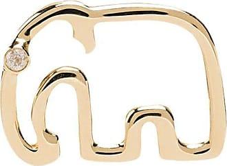 Yvonne Léon 9kt gold and diamond Elephant stud earring