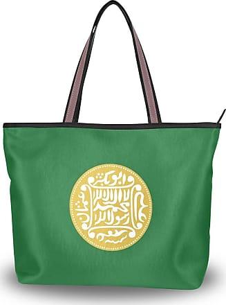 Lorona Women Rohingya Flag Canvas Shoulder Hand Bag Large Capacity Tote Bag