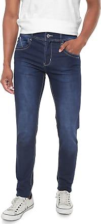 Sawary Calça Jeans Sawary Slim Pespontos Azul