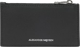 Alexander McQueen Card Case With Logo Mens Black