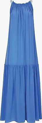 Three Graces London Tatyana Dress in Ocean Blue