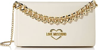 Love Moschino Jc4259pp0a Womens Clutch, Off-White (Ivory), 6x16x26 Centimeters (W x H x L)