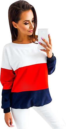 Isshe Oversized Sweatshirts for Women Ladies Crew Neck Sweatshirts Womens Pullover Sweatshirt Without Hood Cute Jumper Sweat Tops Long Sleeve V Back Shirt S