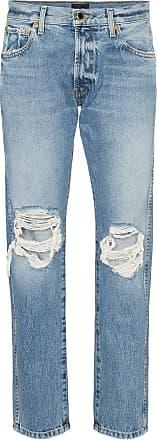 Khaite Kyle low rise distressed jeans - Azul
