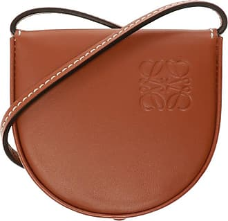 Loewe Heel Pouch With Strap Womens Brown